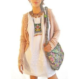 Mexican embroidered dress tunic